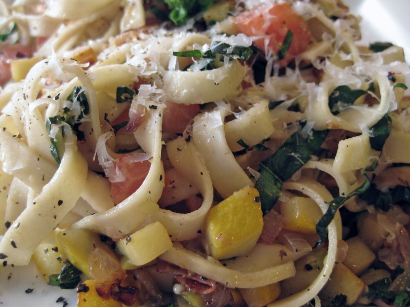 Fresh Summer Squash Pasta