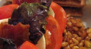 Tomato, Mozzeralla, Bacon, and Purple Basil