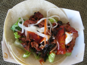 "Korean Spicy Pork ""Taco"""