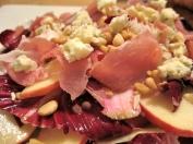 Apple Radicchio Salad w/ Prosciutto and Pine Nuts