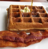 Saturday's Simple Breakfast: Waffles and Bacon
