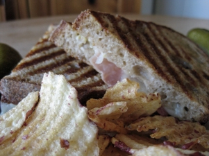 Proscuitto and cheese panini