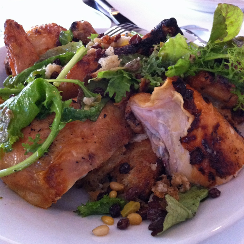 The real deal. Judy Rodgers' famous chicken and bread salad at Zuni Cafe.
