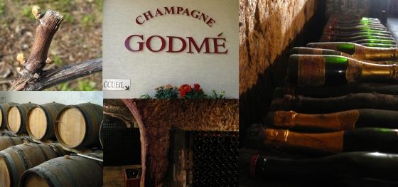 A collage of photos taken at maison Godme.