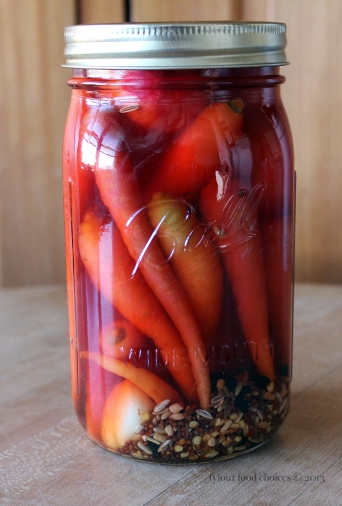 Pickled Carrots and Radishes