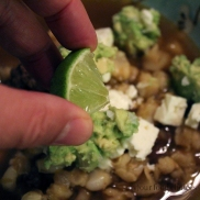 Wild Antelope Pozole with Queso Fresco, Avocado, and Squeeze of Lime
